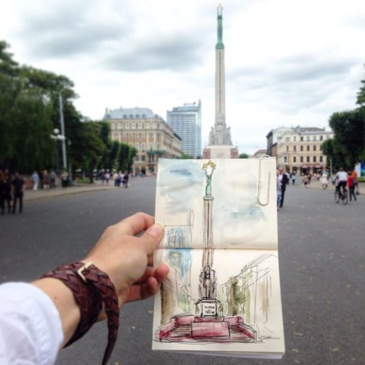 Artist Sketch The Places He Goes Every Day So That He Can Remember Them