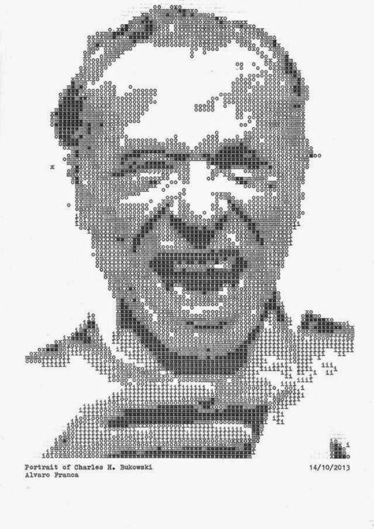 Amazing Stylised Typewritten Portraits