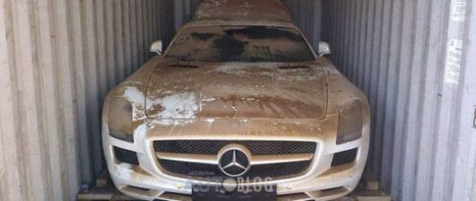 Supercar Mercedes SLS AMG Taken Out Of Ocean
