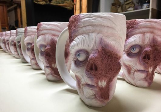 Drink Your Morning Coffee From A Zombie Head