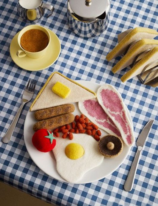 Food Knitted Out of Wool