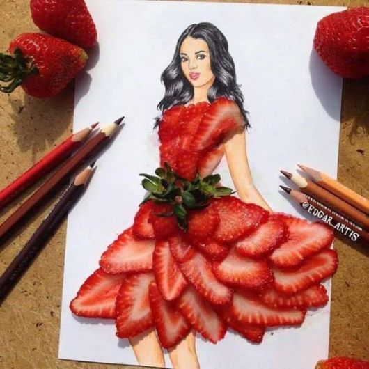 Beautiful Pencil Sketches With Food Items