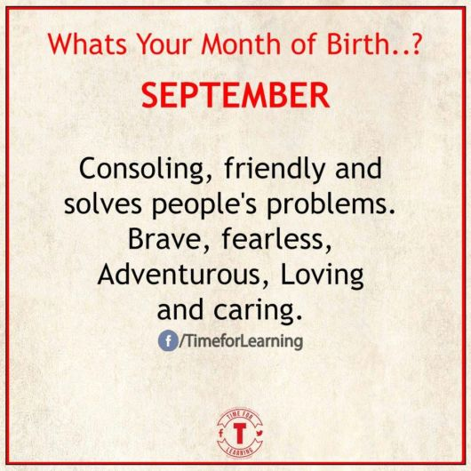 Whats Your Month Of Birth?