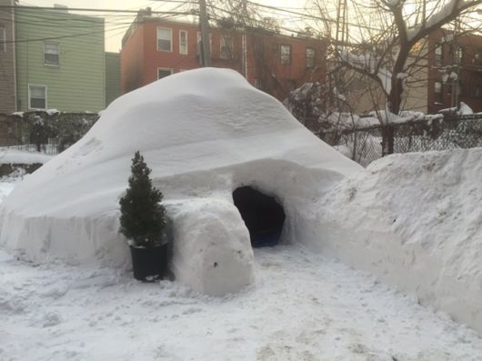 Creative Man Builds Igloo In Brooklyn During Blizzard And Sells It For 200 Dollars