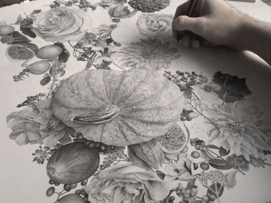 Awestruck Painting Called Autumn Made Of 7 Million Dots And 370 Hours Of Hardwork