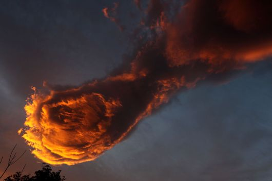 The Hand Of God Cloud Formation Appears Above Portugal