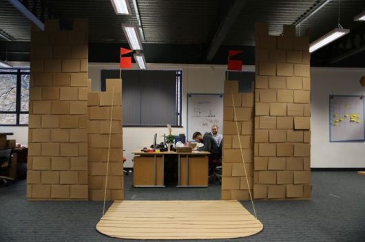 Amazing Desk Decoration Using Giant Cardboards