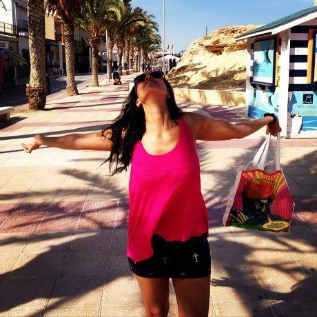 Neha Dhupia Bikini Pics from Her Spain Tour