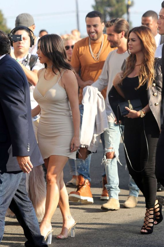 Kim Kardashian Arrives At Kanye West Concert In LA