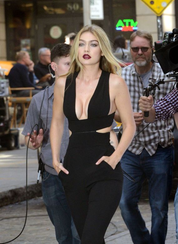 Gigi Hadid Filming A Commercial In New York