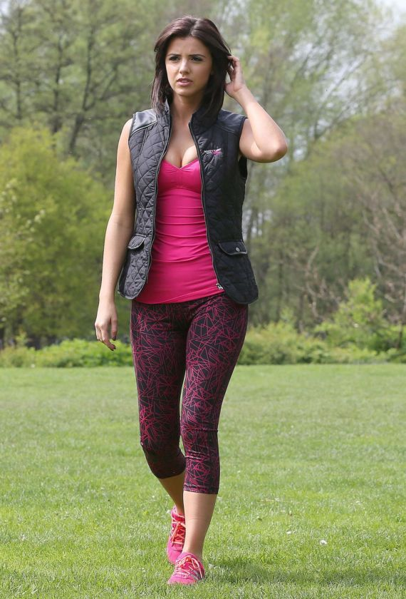 Lucy Mecklenburgh Doing Workout In Shropshire