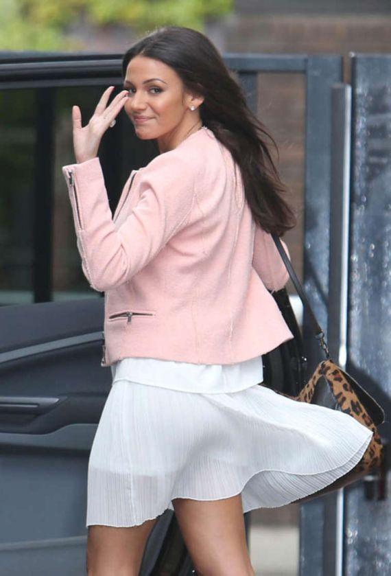 Michelle Keegan Leaves The ITV Studio In London