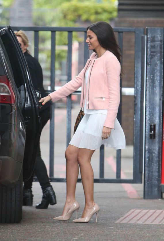 Michelle Keegan Leaves The ITV Studio In London