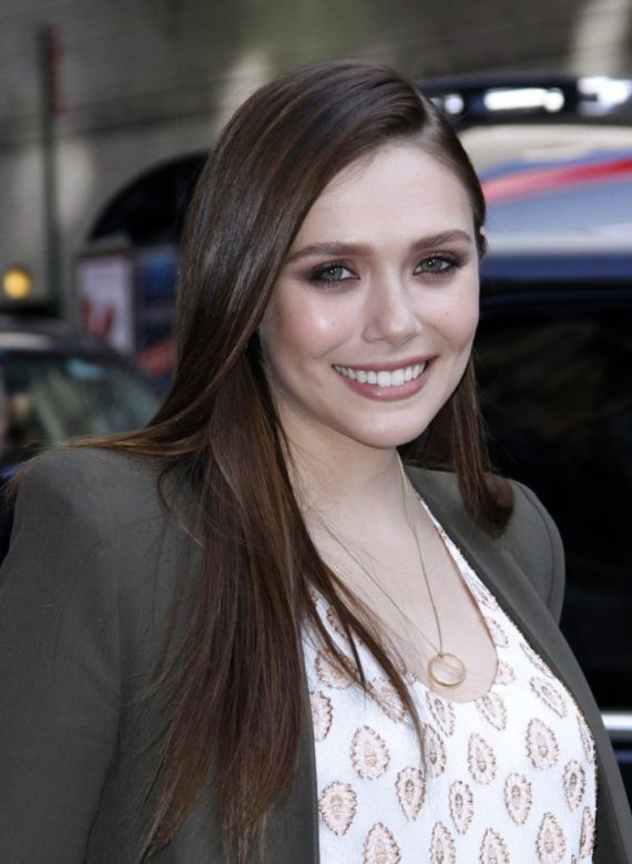 Elizabeth Olsen At The Late Show