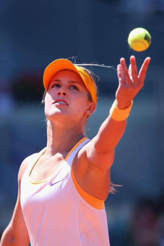 Eugenie Bouchard Playing Mutua Madrid Open