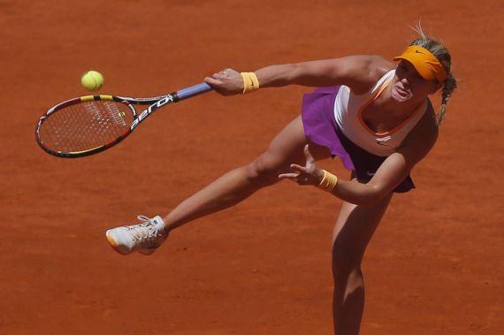 Eugenie Bouchard Playing Mutua Madrid Open