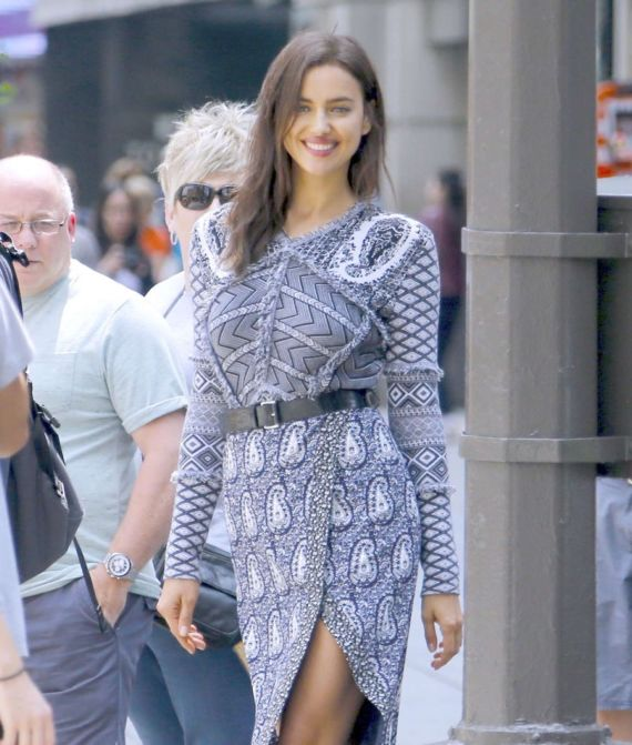 Irina Shayk Photoshoot On Fifth Avenue In New York