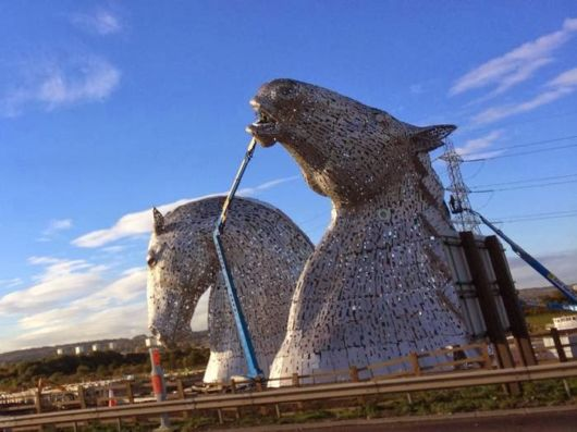 The Kelpies Tower By Andy Scott